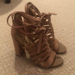 Sam Edelman Lace Up Heels Size 7.5